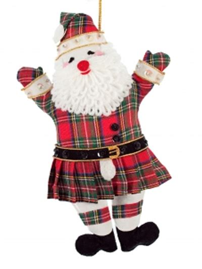 kilted father christmas christmas tree decoration