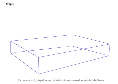 how to draw a bed learn how to draw sofa cum bed furniture step by step