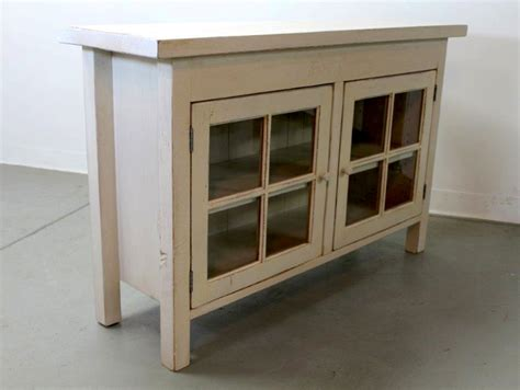 Wood Cabinet With Glass Doors Reclaimed Wood Media Cabinet With Glass Doors Ecustomfinishes