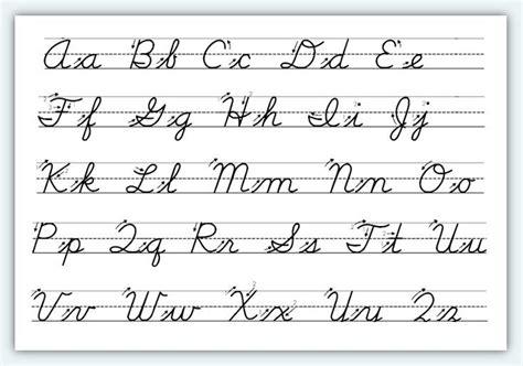 Cursive Alphabet Letters Pdf free printable cursive alphabet worksheets 1 classroom