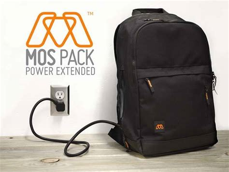 Built Ny Electric Charger Bag by Mos Pack Is A Backpack With Built In Cable Organizer And