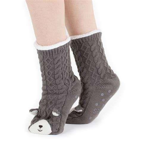 chunky slipper socks totes chunky novelty slipper socks ebay