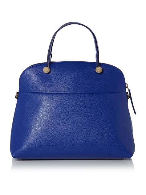 Furla Piper Dome Medium furla piper blue medium dome bag in blue lyst