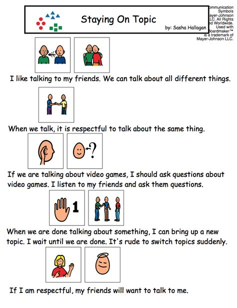Teaching Conversation Skills The Autism Helper Printable Social Stories