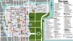 Chicago Loop Map Printable chicago loop wikitravel