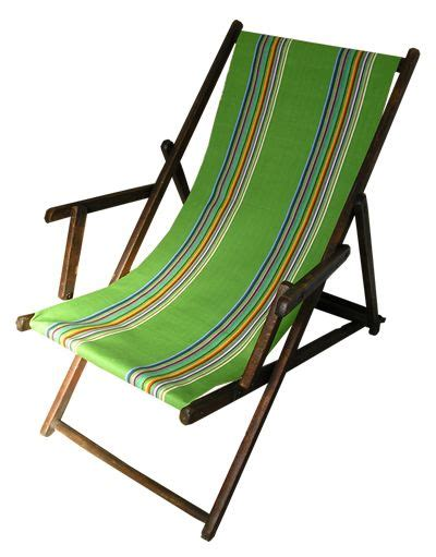 Canvas Deck Chairs - beech deckchair covered in deckchairstripes green