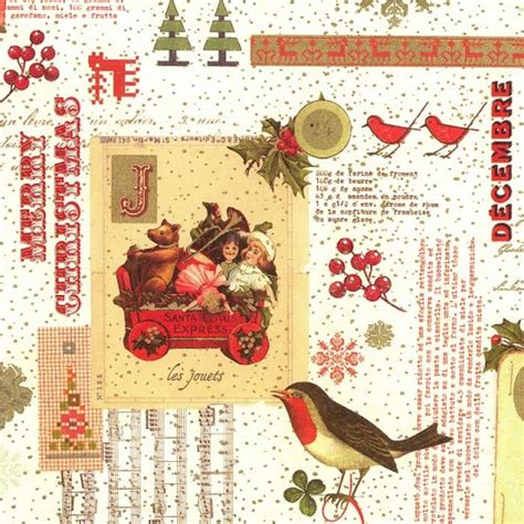 beautiful christmas collage italian paper rossi italy