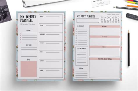 weekly planner templates  premium