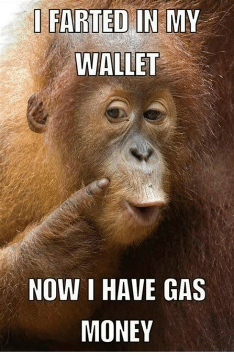 Gas Money Meme - farted in my wallet now i have gas money meme on me me