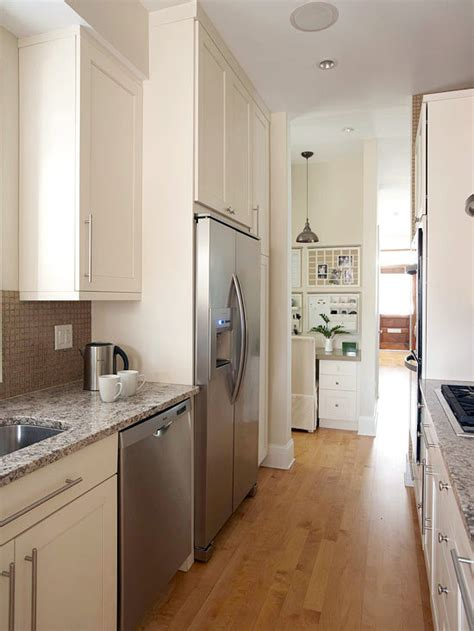 how to make a galley kitchen look larger compact kitchens that make the small space look bigger