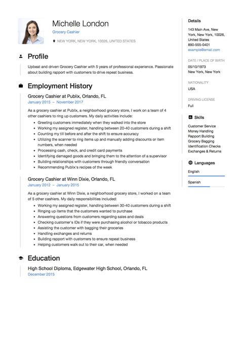 cashier resume template free sample cashier resume format examples