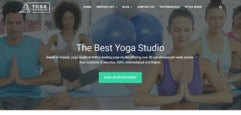 bootstrap templates for yoga yoga studio website template bootstrap themes