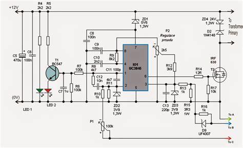 24v smps circuit diagram adjustable 0 100v 50 smps circuit