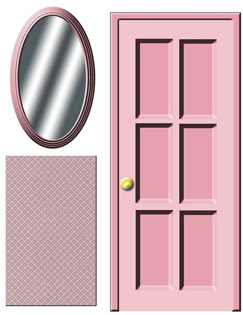 doll house door digital download dollhouse decals pink door and by printatoy every girl needs a