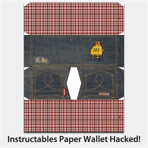 How To Fold A Paper Wallet - instructables paper wallet hacked 2 ways and new design