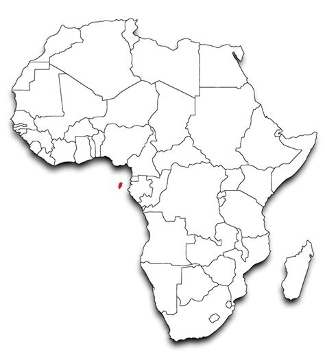africa map template educating future generations in sao tome harambee usa