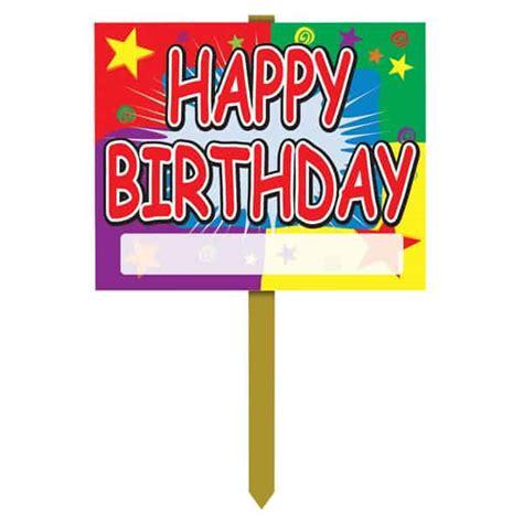 design happy birthday sign happy birthday yard lawn sign designs partyrama co uk
