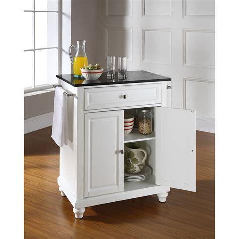 white kitchen island with black granite top cambridge solid black granite top portable kitchen island white dcg stores