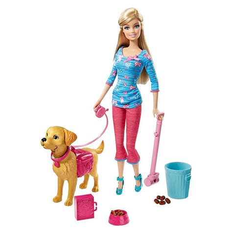 film barbie i pieski barbie animaux rigolos barbie et son chien taffy mattel