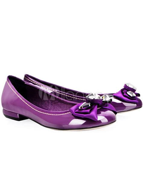 womens purple flat shoes purple patent leather butterfly womens flat shoes