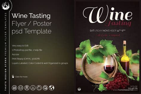 wine flyer template wine tasting flyer template psd design for photoshop