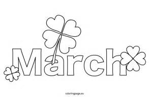 march coloring pages free month march coloring page