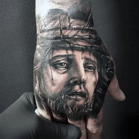 tattoo hand jesus top 75 best hand tattoos for men unique design ideas