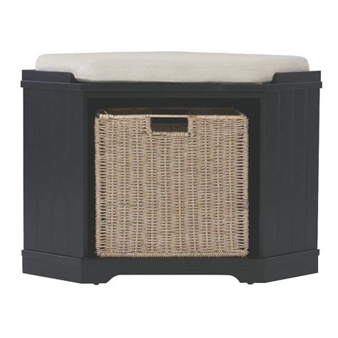 home decorators storage bench home decorators collection whitaker black storage bench