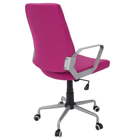 pink and silver desk chair zip contemporary office chair in pink fabric with