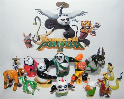 Figurine Kungfu Panda 3 Isi 8 Pcs Figurine Toko Kado Jakarta kung fu panda 3 figure set of 13 with po the furious 5 and new characters ebay