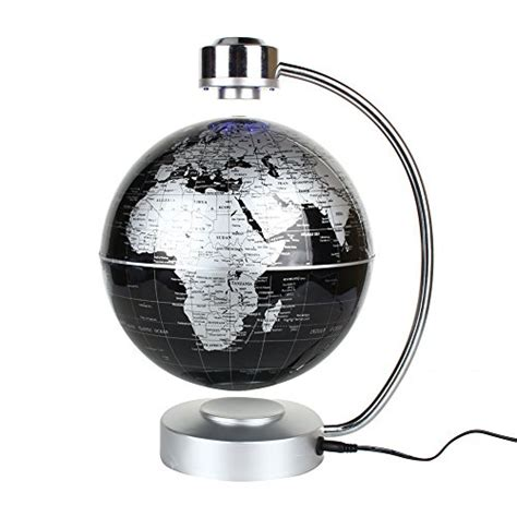 spinning globe desk toy magnetic levitation floating world map globe 8 quot rotating