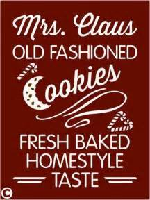 primitive stencil mrs claus old fashioned cookies christmas cookies candy cane ebay