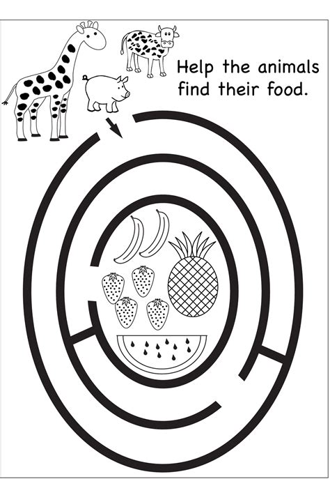 Maze Puzzle Parents Of The Animal free maze worksheets printable kiddo shelter