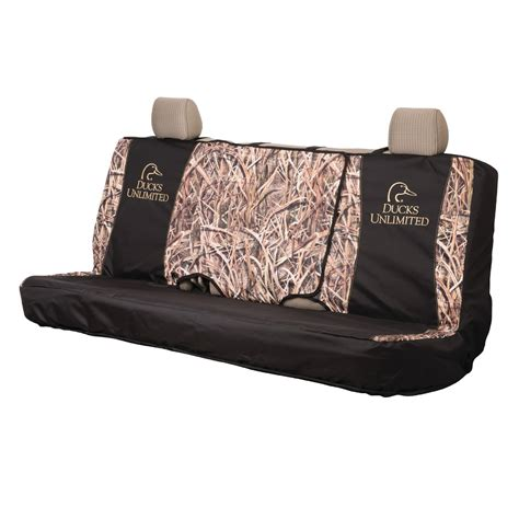 ducks unlimited full size bench seat cover mossy oak