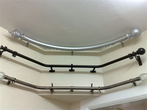 curved metal curtain pole 30 best curtain rail for bay windows ideas uk home decor