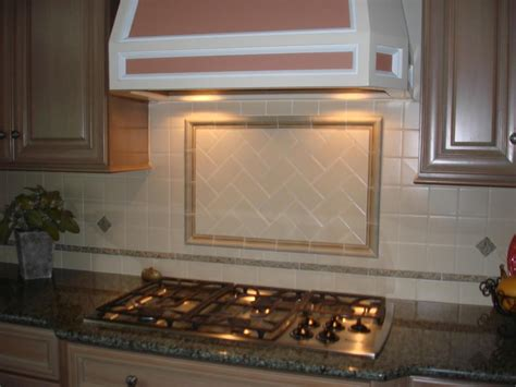 Ceramic Kitchen Backsplash Herringbone Tile Pattern New Jersey Custom Tile