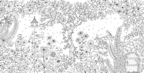 secret garden coloring book page one secret garden an inky treasure hunt and colouring book