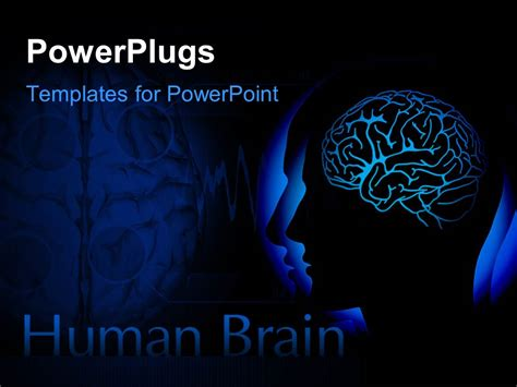 powerpoint templates free brain powerpoint template human head with visible brain over