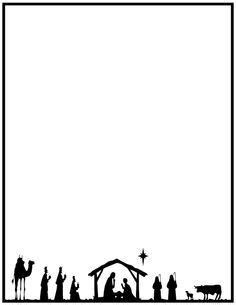 Printable Nativity Border Free Gif Jpg Pdf And Png Downloads At Http Pageborders Org Free Religious Letter Template