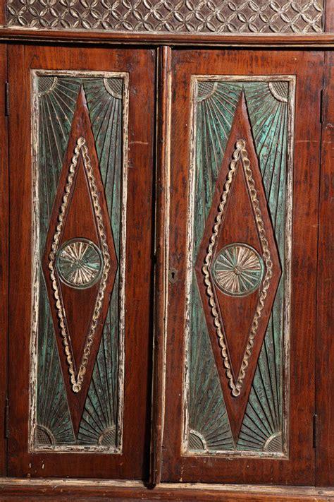 antique indonesian teak java cabinet  sale  stdibs