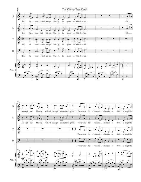 cherry tree carol cherry tree carol for satb adrienne albert composer