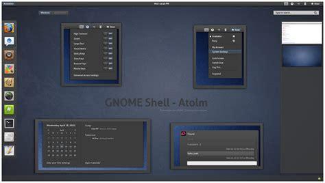 gnome black themes atolm dark gnome shell theme linuxnov