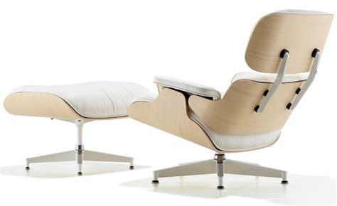 White Ash Eames 174 Lounge Chair Ottoman Hivemodern Com Ottoman Eames