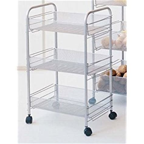 rolling kitchen storage rolling kitchen cart with mesh baskets for storage