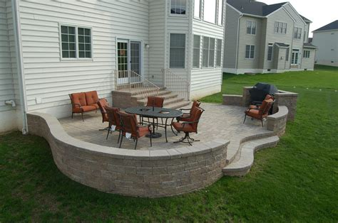 Patio Pavers For Grill Paver Patio With Sitting Wall And Grill Area Yelp