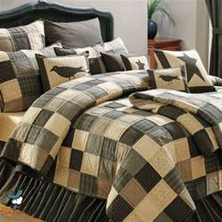 country bedding black country primitive patchwork quilt set for