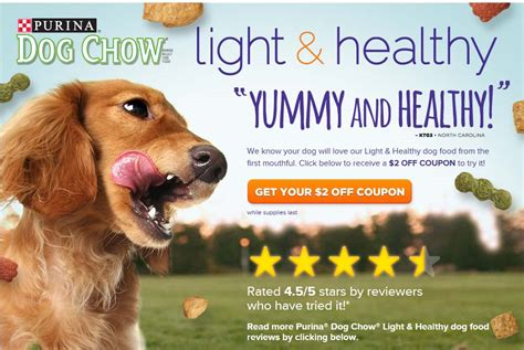 Purina Light And Healthy Purina Dog Chow Light And Healthy 2 1 Printable Coupon
