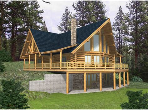 a frame house plans with basement blackhawk ridge log home plan 088d 0037 house plans and more