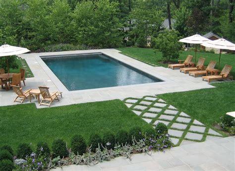 backyard pool landscaping rectangular swimming pool as part of formal nj backyard