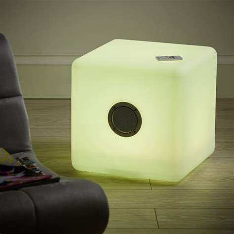 led light up speakers light up led bluetooth 174 large speaker cube pbteen